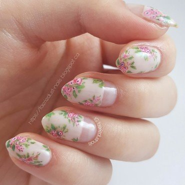 Spring Florals nail art by Shirley X.