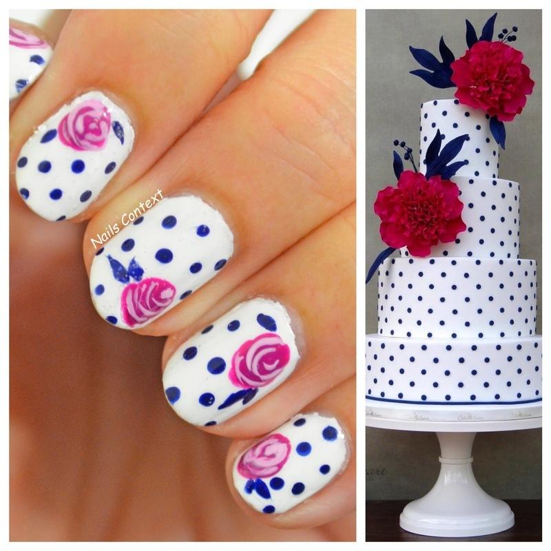 Cake Inspired Floral Nails  nail art by NailsContext