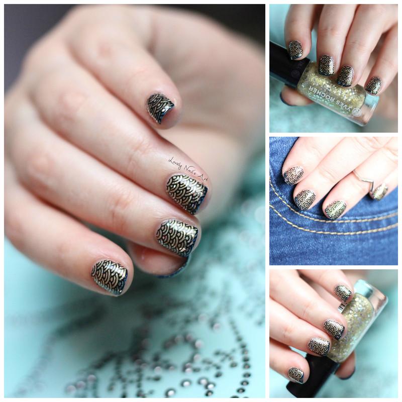 Nail art stamping avril nail art by Lovely Nail's  Art