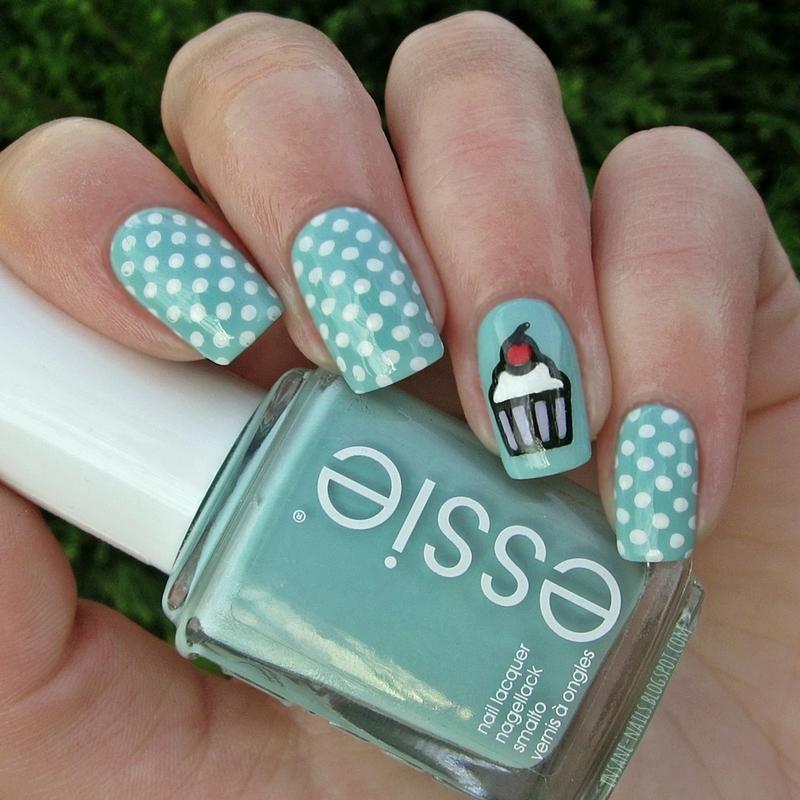Birthday manicure nail art by Sanela