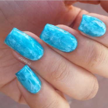 Ocean Smooshie nail art by nailsofkh