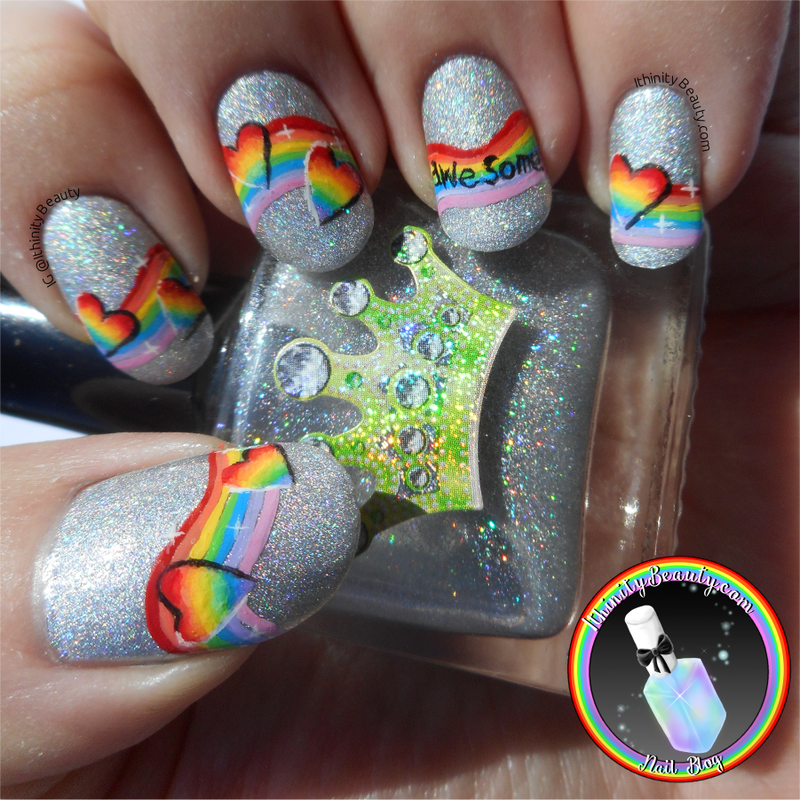 Autism Awareness Nail ART nail art by Ithfifi Williams