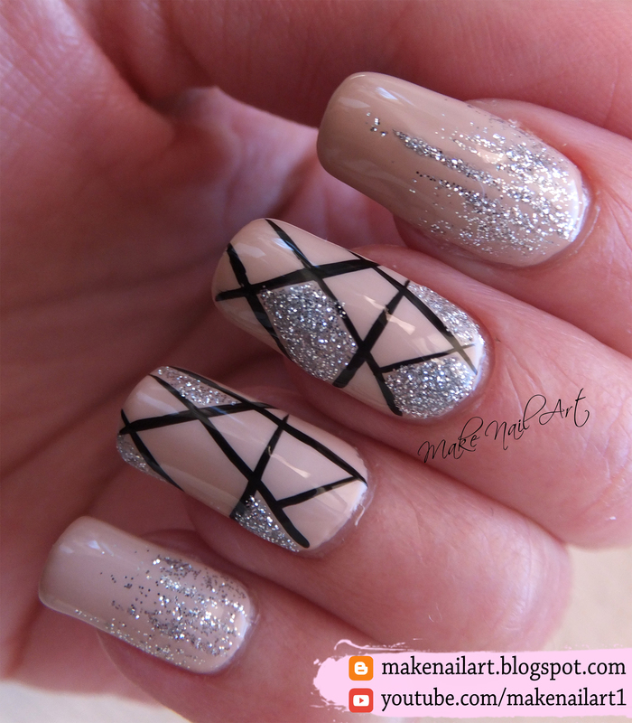 Elegant Silver Nails For Prom