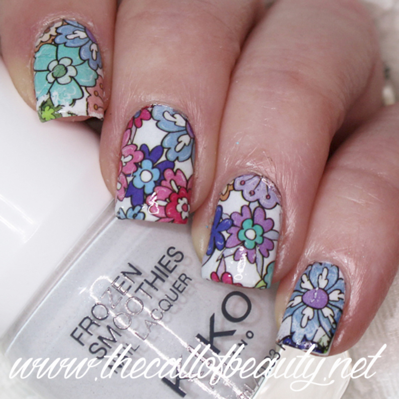 Floral Morning nail art by The Call of Beauty