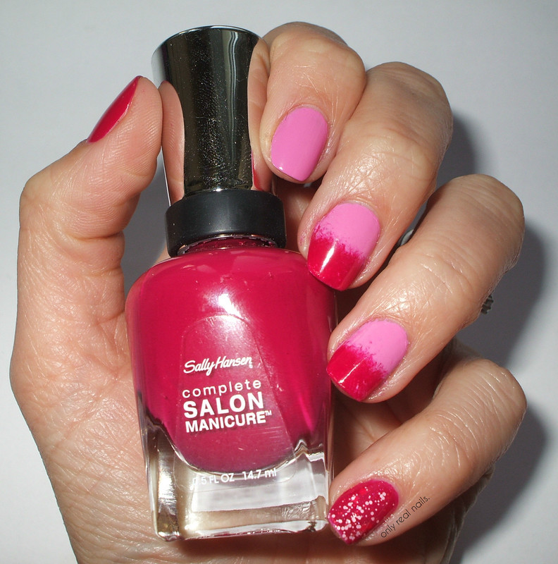 Pink candies nail art by only real nails.