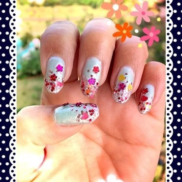 spring (and love) is in the air nail art by Idreaminpolish
