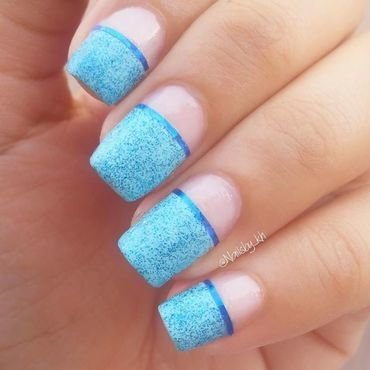 bleu ciel  nail art by nailsofkh