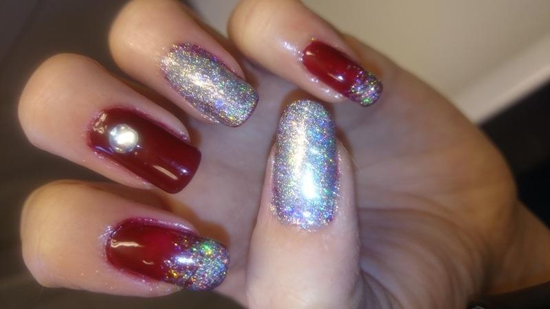 Glamour nailart  nail art by Sabina Salomonsson