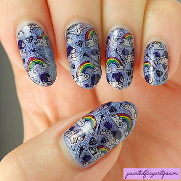 Unicorn rainbow stamping decals thumb370f