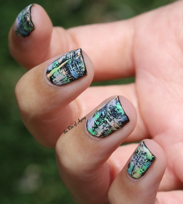 Pastel Dry Brush nail art by Monica