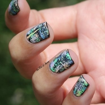Pastel Dry Brush nail art by Monica