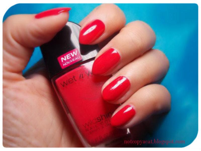 Wetnwild, Wild Shine, Grasping at Strawberries nail art by notcopyacat