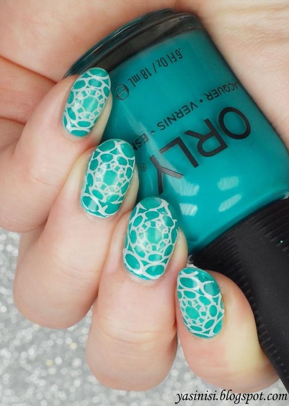 Turkusowo nail art by Yasinisi