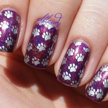 Cat prints nail art by Jenette Maitland-Tomblin