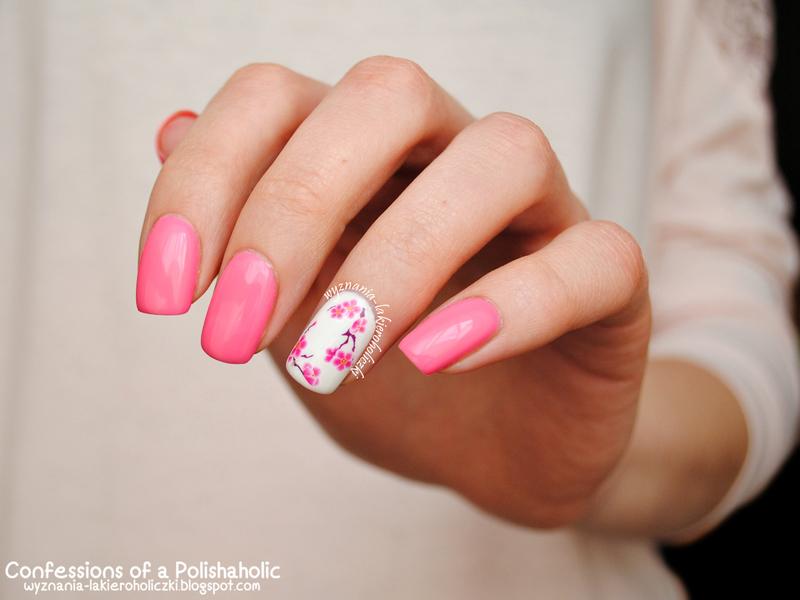 Cherry Blossom nail art by Olaa
