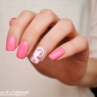 Cherry Blossom nail art by Olaa