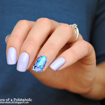 Flower nail art by Olaa