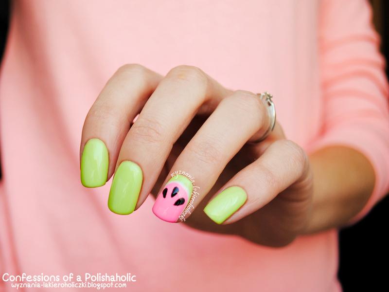 Watermelon nail art by Olaa