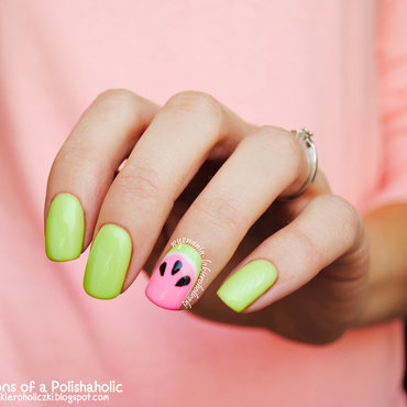 Watermelon nail art by Olaa