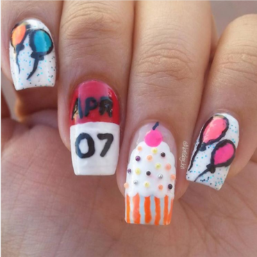 My Bday ! nail art by nailsofkh