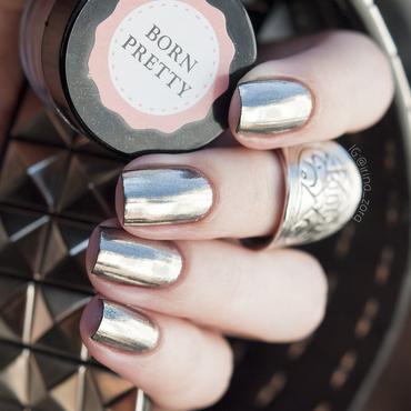 Born Pretty Silver Mirror Nail Glitter Powder Swatch by Irina Zorg