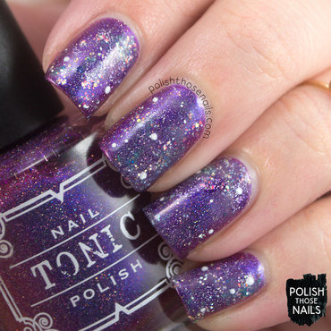 Purple multichrome glitter sparkle holo galaxy nail art 4 thumb370f