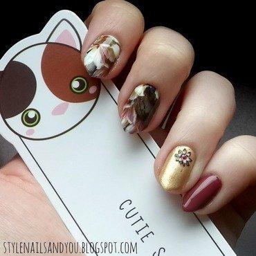 Marsala Inspiration nail art by StyleNailsAndYou