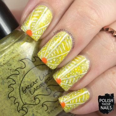 Flakie Sunrise nail art by Marisa  Cavanaugh