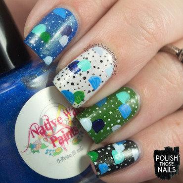 Random skittles folky pattern polka dot nail art 4 thumb370f