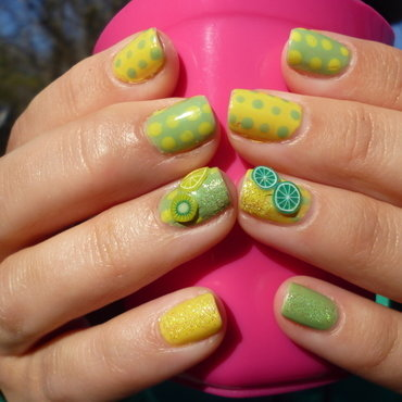 Citrus Zest nail art by velinux