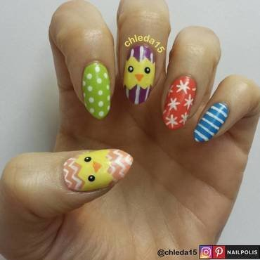 Chick-A-Boo! nail art by chleda15
