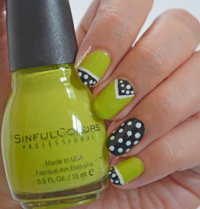 Green is the new Black nail art by NailsContext
