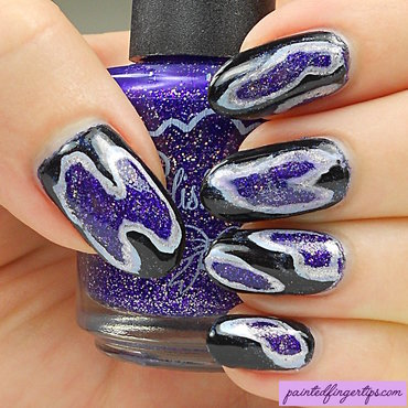 Geode nails nail art by Kerry_Fingertips