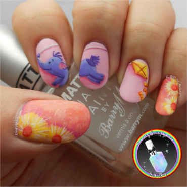 Freehand Disney's Heffalump Nail Art nail art by Ithfifi Williams
