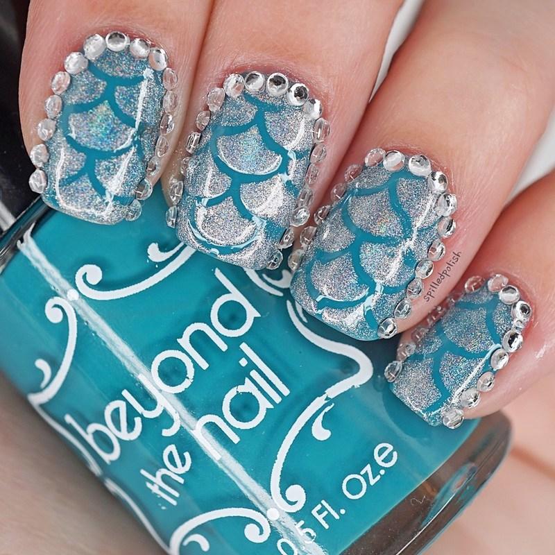 Mermaid Scale Nail Art nail art by Maddy S