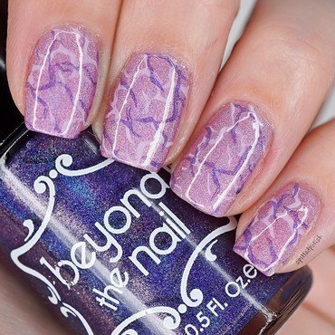 Purple Marble Nails nail art by Maddy S