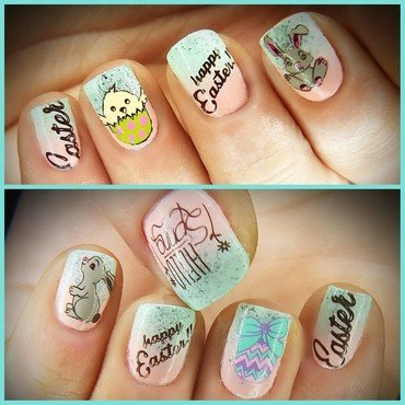 HAPPY EASTER🐇🐰 nail art by redteufelchen86