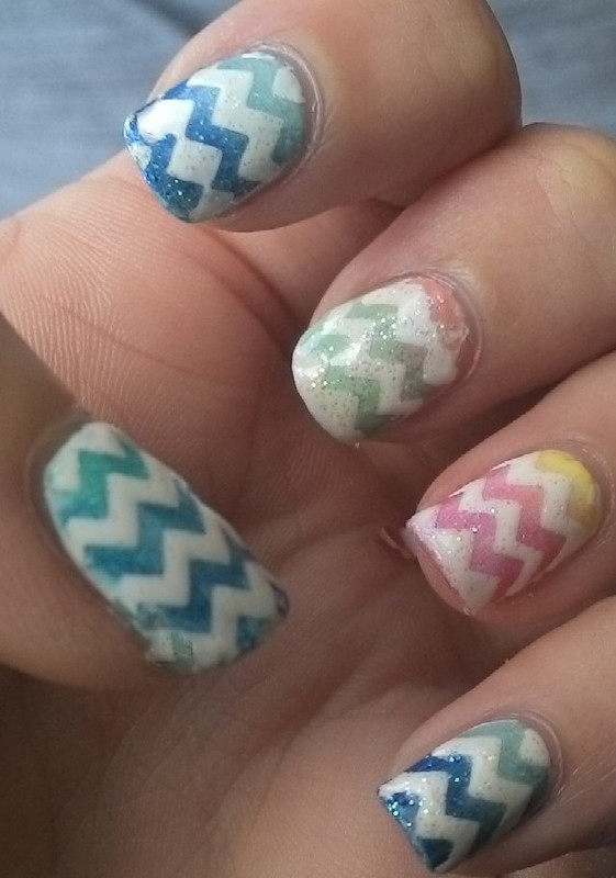 Easter Eggs nail art by Kristyna