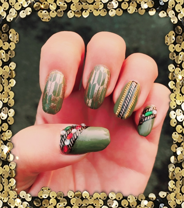chains nail art by Idreaminpolish