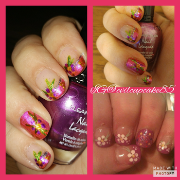 Easter recreation from a prof mani 5 yrs ago nail art by Ashley C