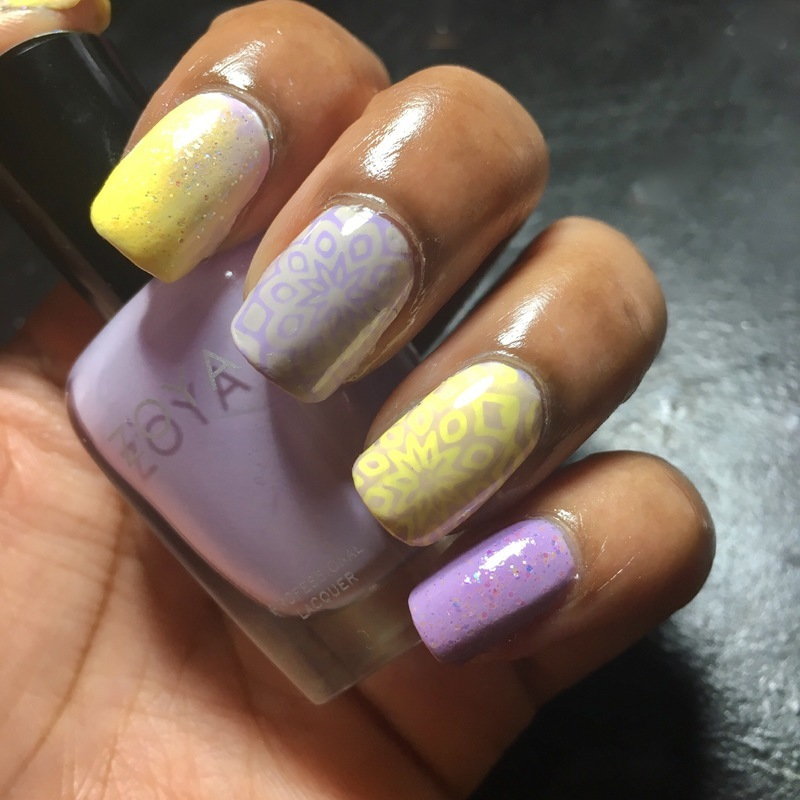 Amethysts Compliment nail art by Chloe Jay