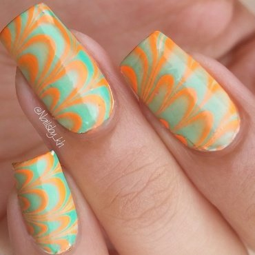 watermarble :D nail art by nailsofkh