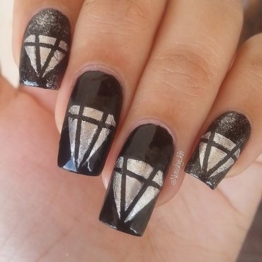 diamond :D nail art by nailsofkh
