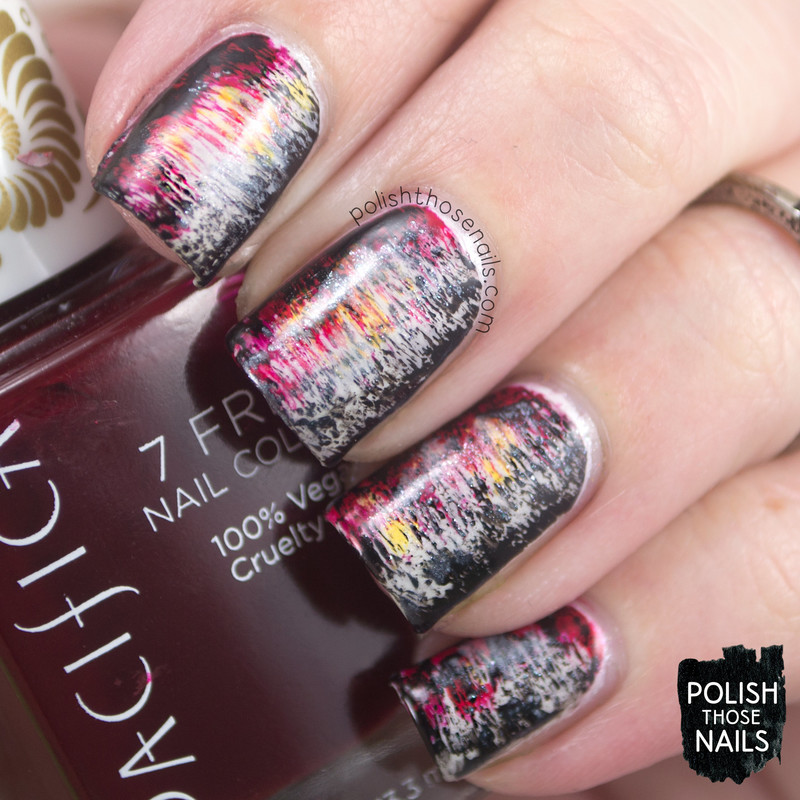 Distressed Grunge Genesis nail art by Marisa  Cavanaugh