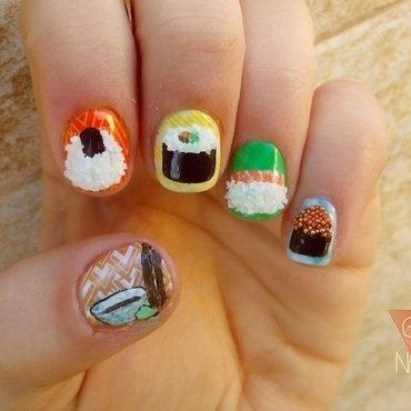 SUSHI NAIL ART nail art by GepeNails
