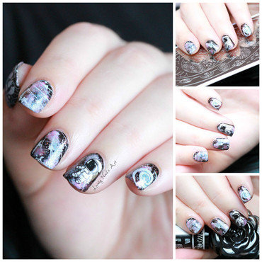 Nail art stamping astronaute  nail art by Lovely Nail's  Art