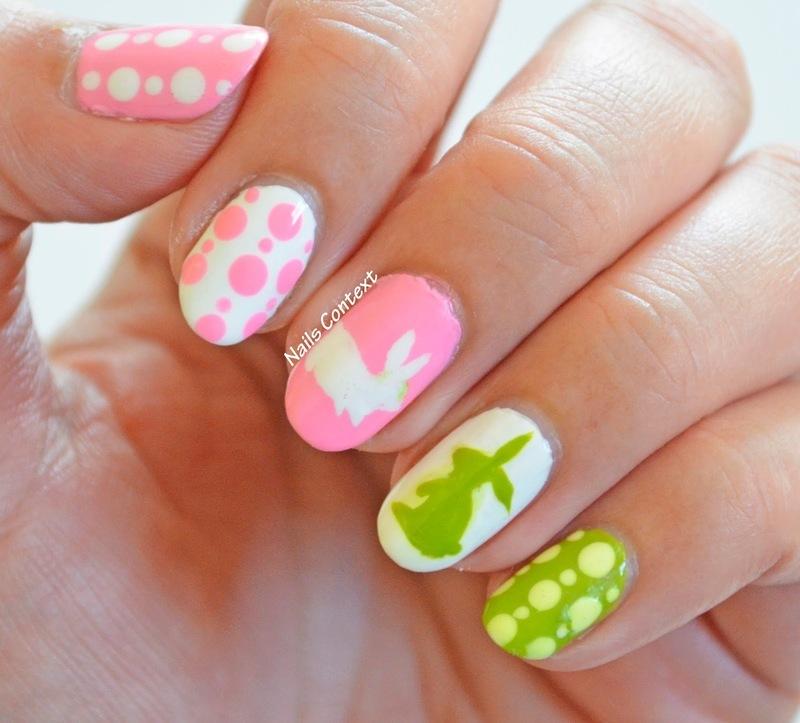 Easter Bunny nail art by NailsContext