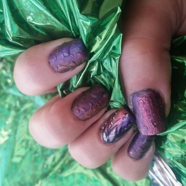 droplets nail art by Valerie Harper