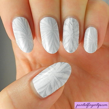 Bridal water marble nail art by Kerry_Fingertips