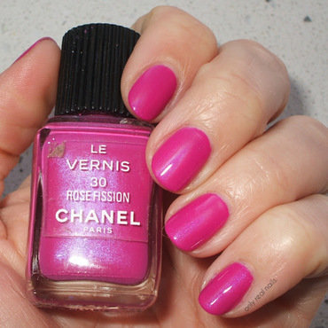 Chanel Rose Fission Swatch by only real nails.